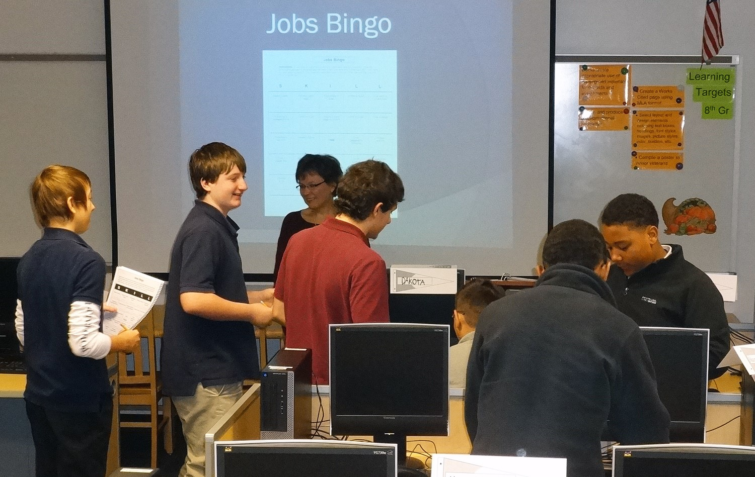 Jobs bingo in action at Liberty!