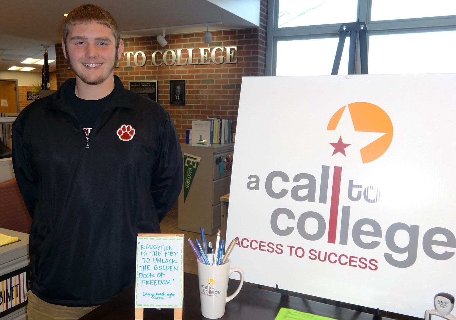 A junior eager for his first A Call to College advising appointment