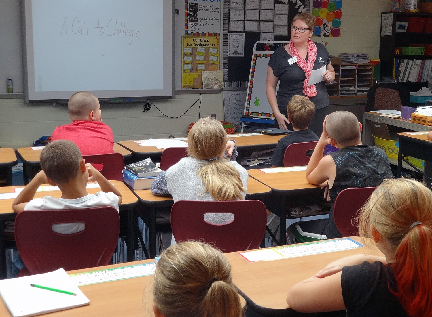 Week one of College & Money Savvy Wildcats! Mrs. Houdeshell meets her McGuffey Bobcats