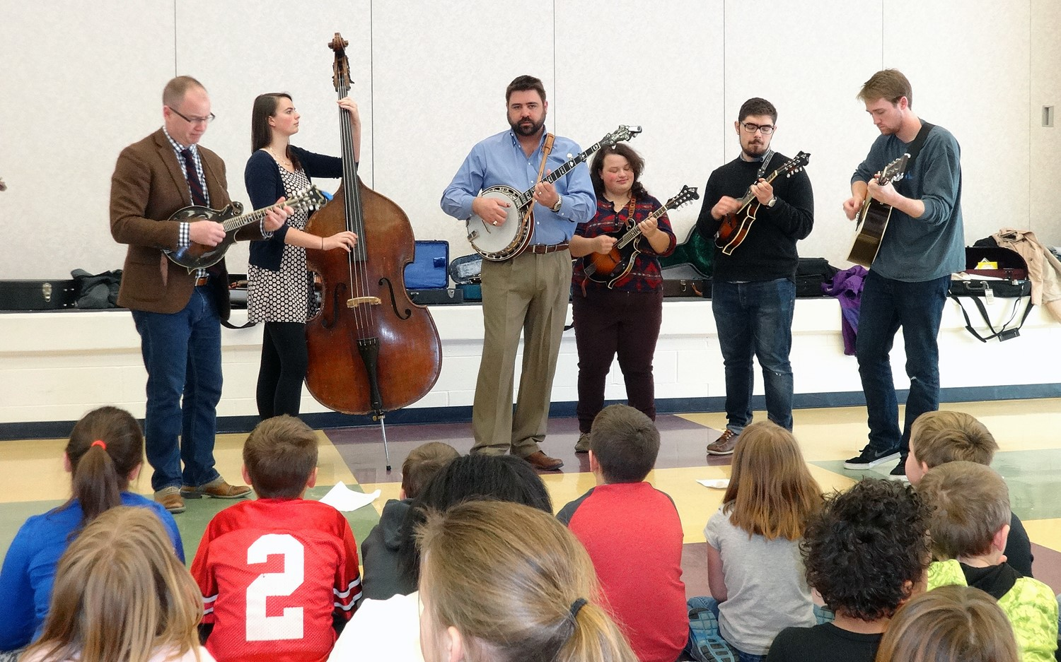 College Comes Into the Classroom 2016 featured two Denison Bluegrass Ensemble concerts