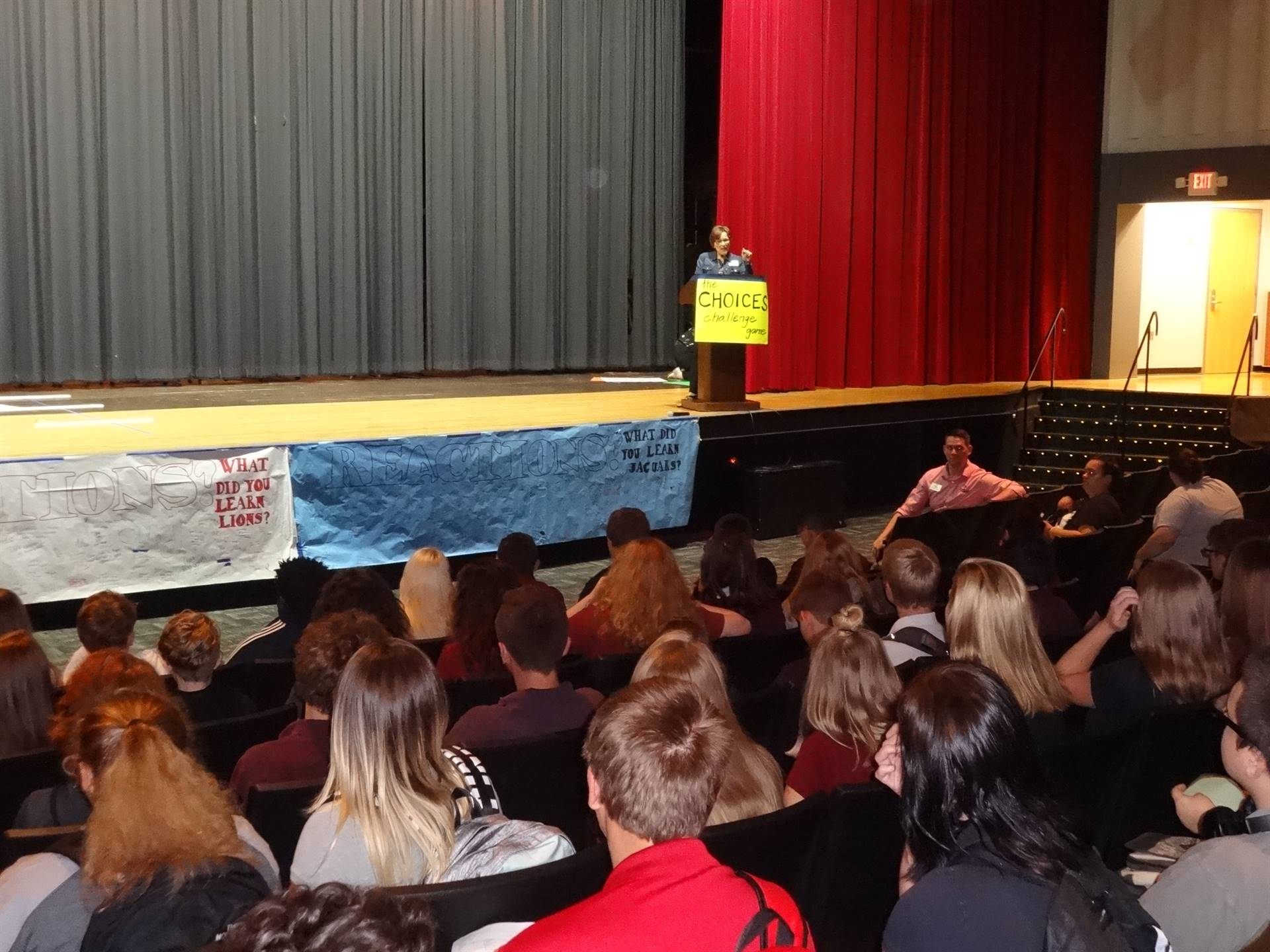 Freshman Focus kicks off the first day of school.  The Choices Challenge Game!