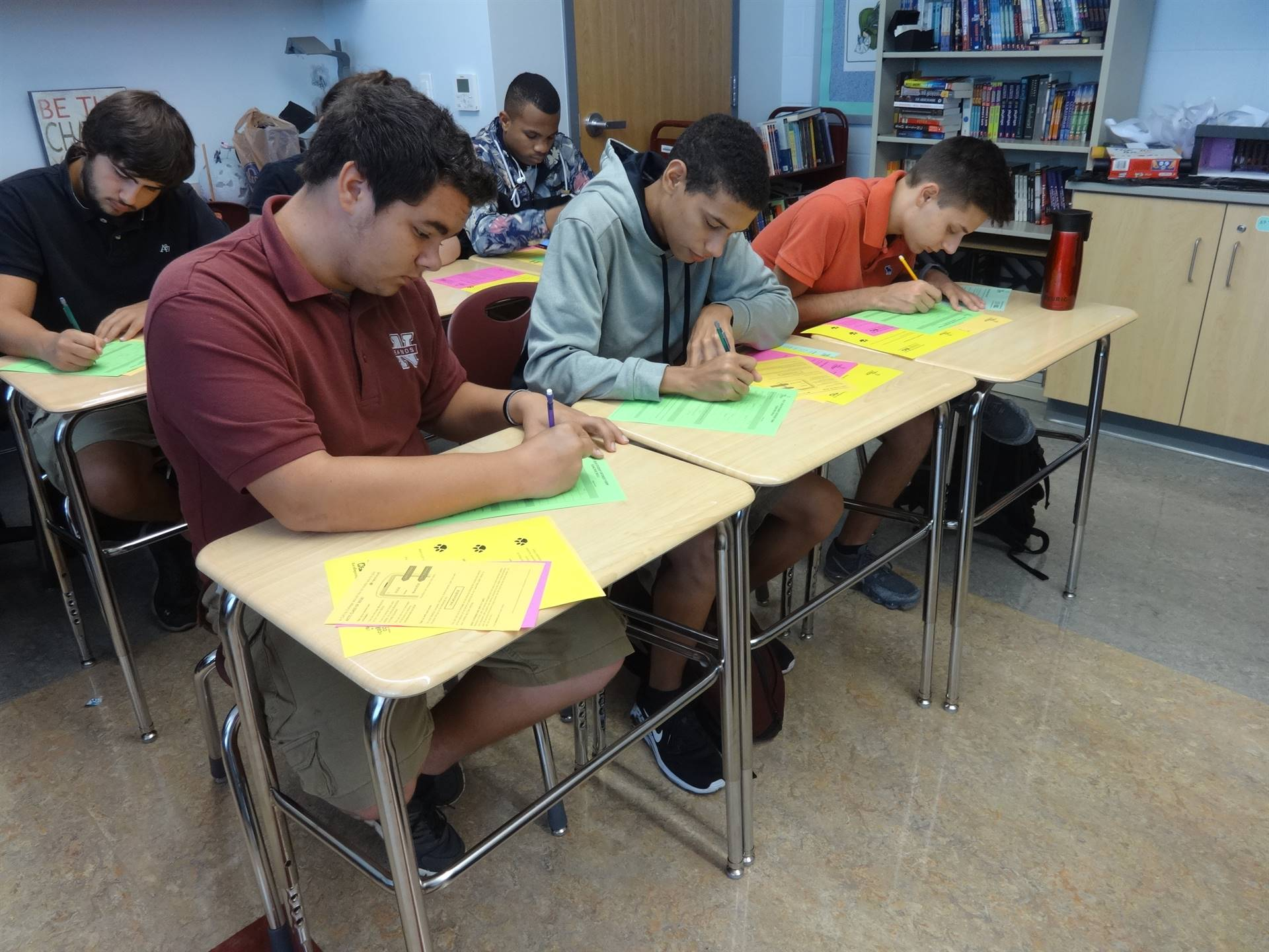 Juniors sign up for A Call to College in September through English Class visits.