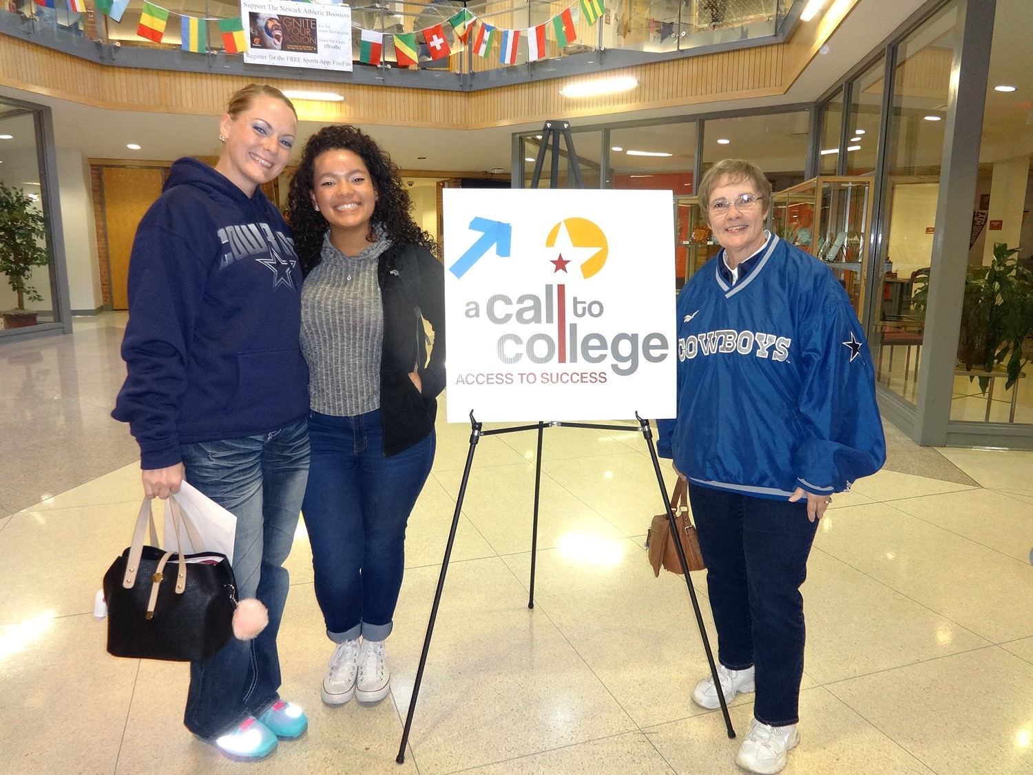 A senior and her family arrive for the first FAFSA workshop