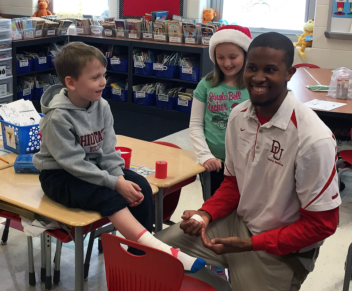 Celebrity Reader Week featured professionals from a bunch of cool careers, like an athletic trainer