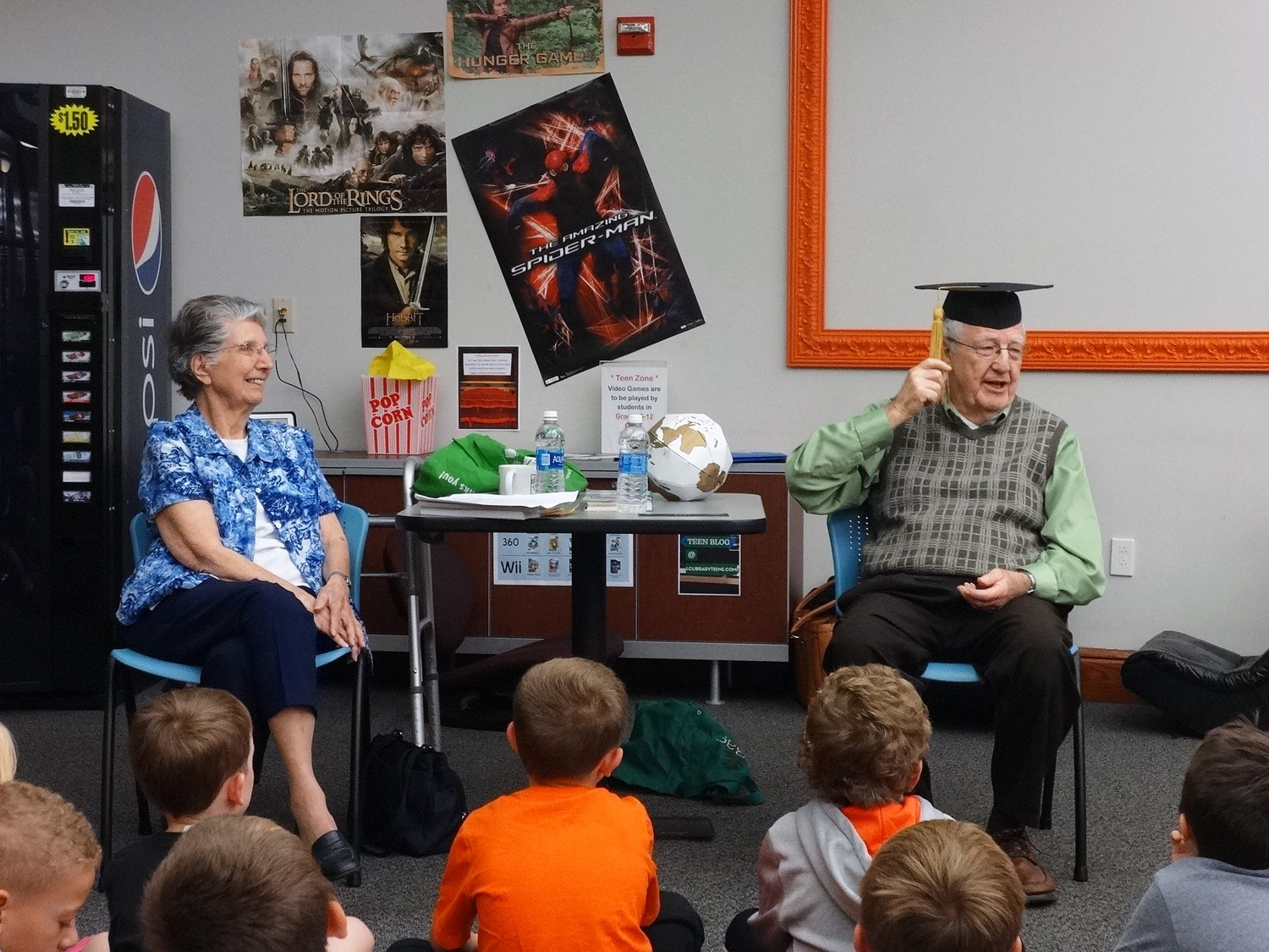 The Reading Rocks at the Library field trips feature interviewing special guests