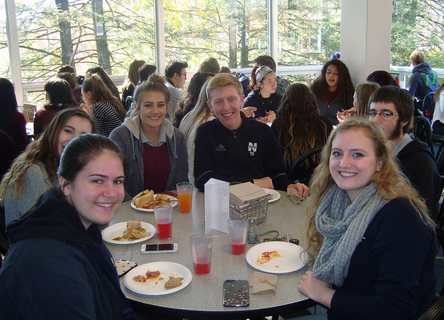 This group of juniors loved checking out the Denison campus.  Lunch was especially a big hit!