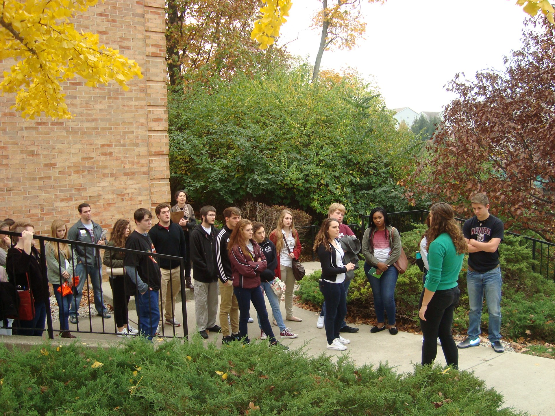 In November, 23 juniors and seniors visited Wright State on a day off of school